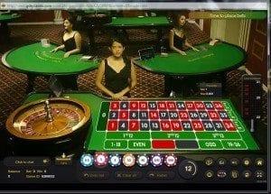 Live dealer roulette games