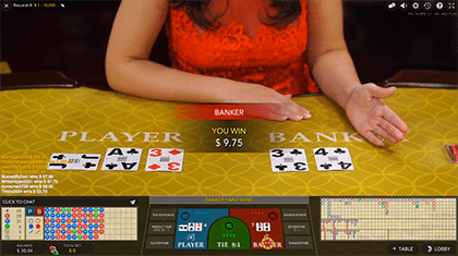 Live Baccarat by Evolution Gaming