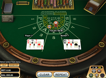 Online baccarat by Betsoft