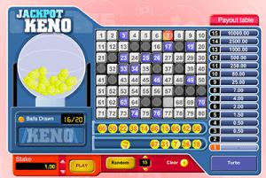 Keno Jackpot online software