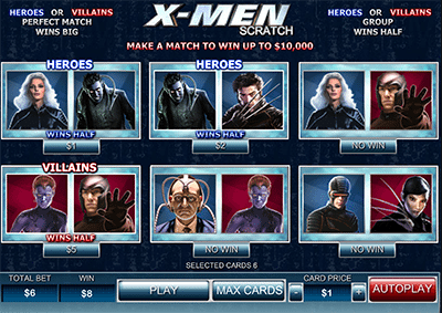 X-Men online scratch card