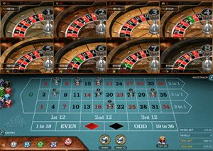 Online multi-wheel roulette