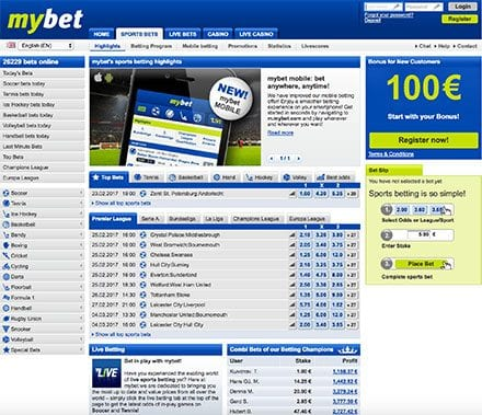 Mybet online sports book for desktop