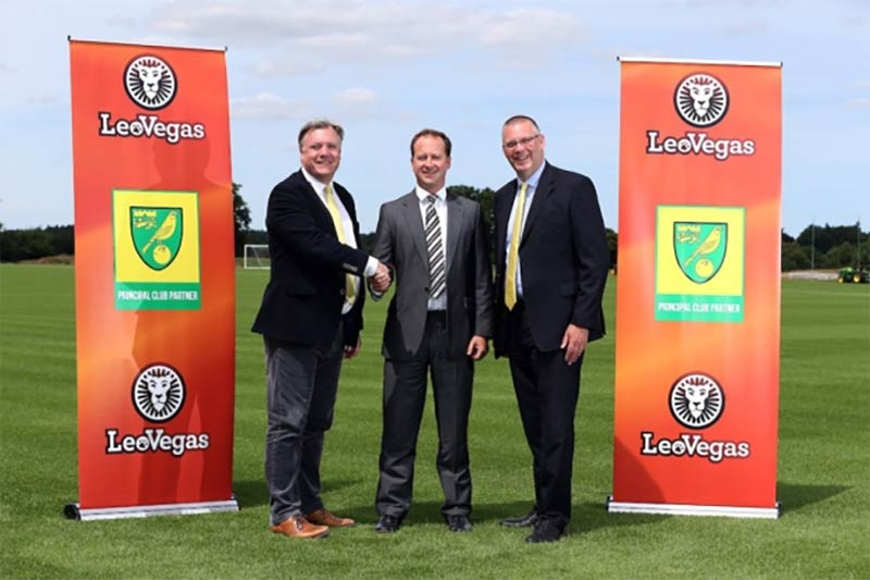 LeoVegas signs on as main sponsor for Norwich City FC