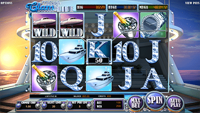 Screenshot of Mega Glam Life slot game