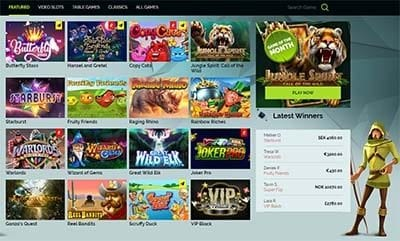 Wixstars Casino games interface and lobby