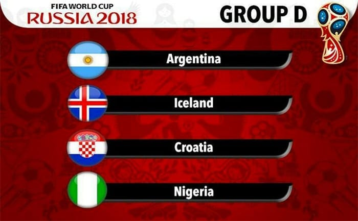 Nigeria World Cup Group D