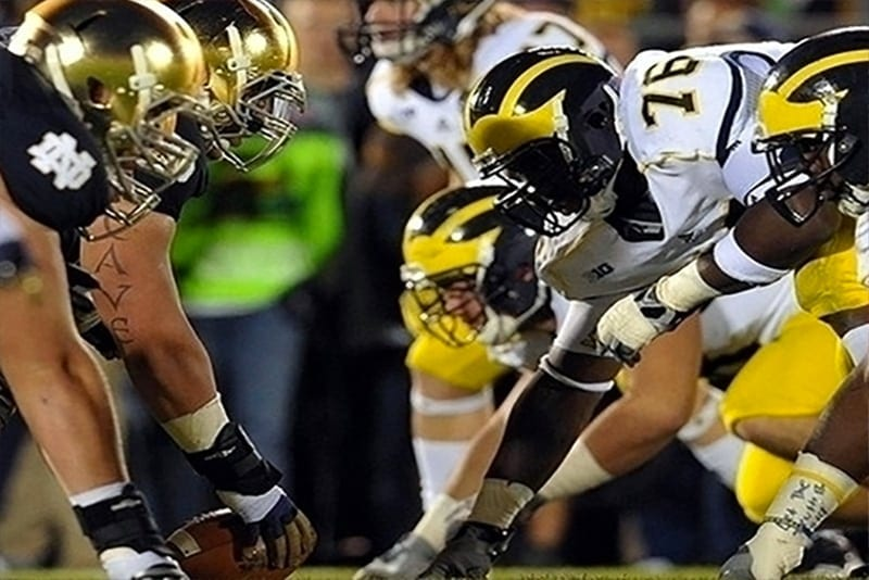 Michigan vs notre dame betting line low risk high reward betting tips