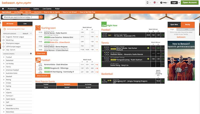 Betsson online betting site review