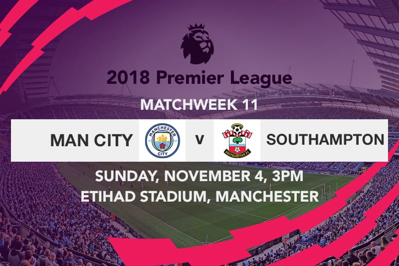 Manchester City vs Southampton