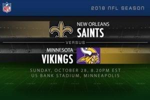 Saints v vikings NFL