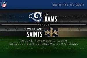 Rams vs Saints NFL