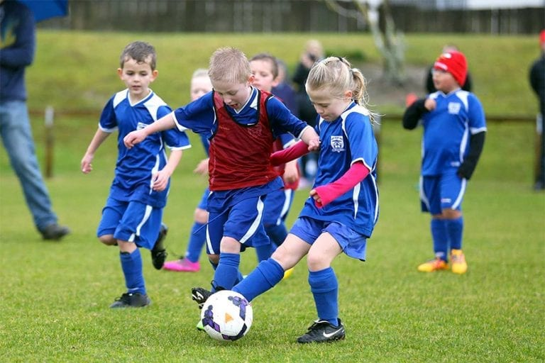Junior football match