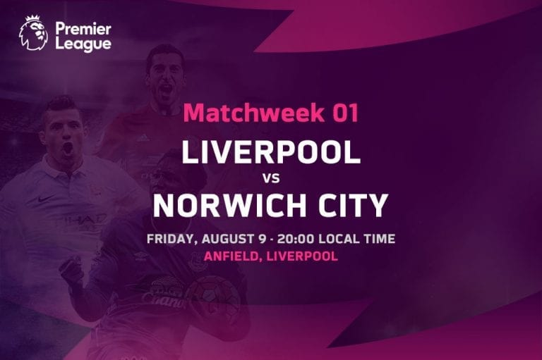 Liverpool vs Norwich City EPL Matchweek 1