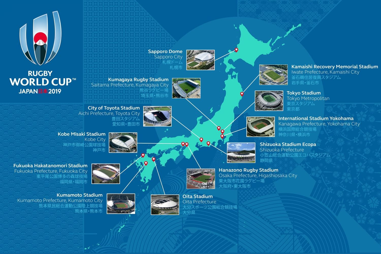 Rugby World Cup Cities Japan