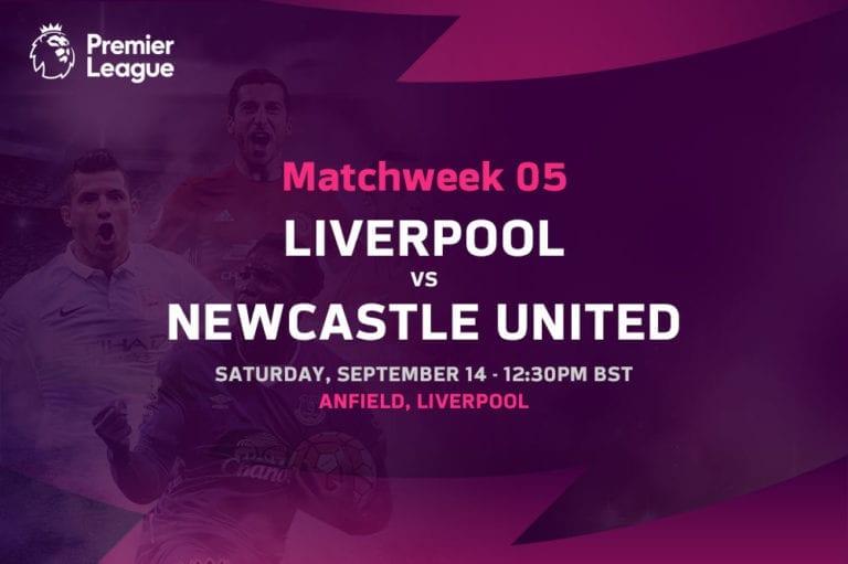 Liverpool vs Newcastle Premier League odds