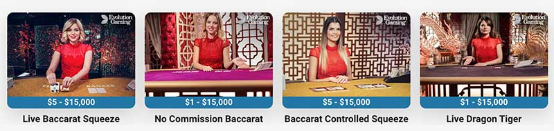 Live dealer baccarat at online casinos
