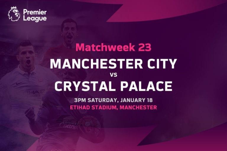 Man City vs Crystal Palace EPL betting tips