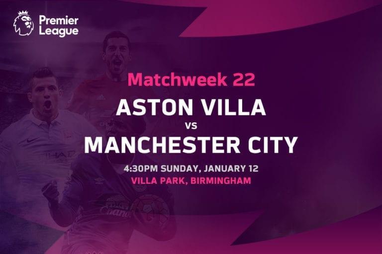 Aston Villa vs Man City EPL betting tips