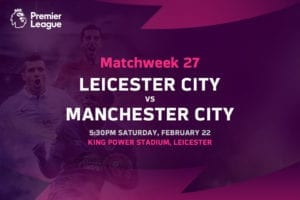 Leicester vs Man City EPL betting tips