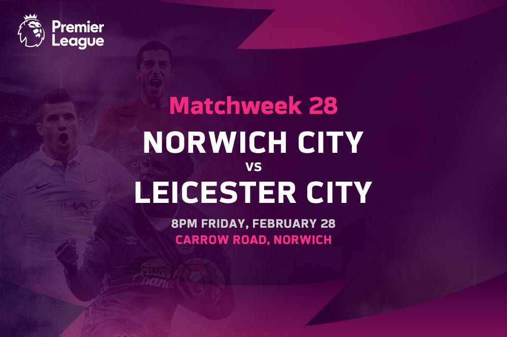 Norwich vs Leicester EPL betting tips
