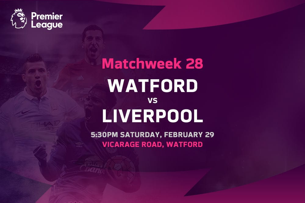 Watford vs Liverpool EPL betting tips
