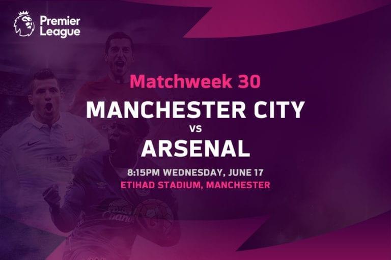 Man City vs Arsenal EPL betting tips