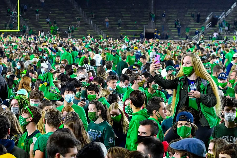 Notre Dame NCAAF betting news
