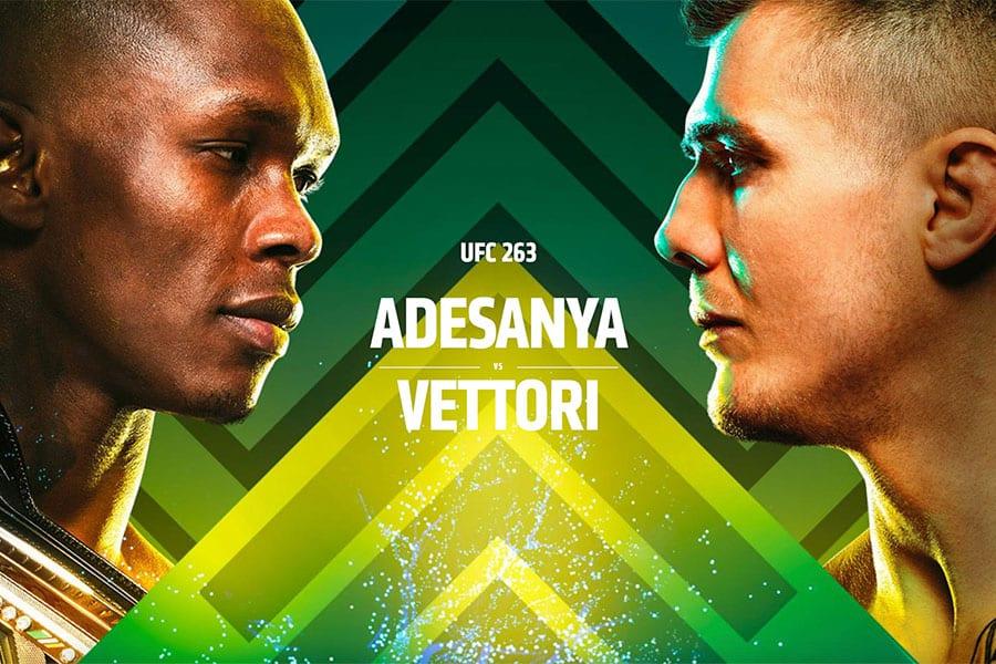 UFC 263 main event - Adesanya vs Vettori